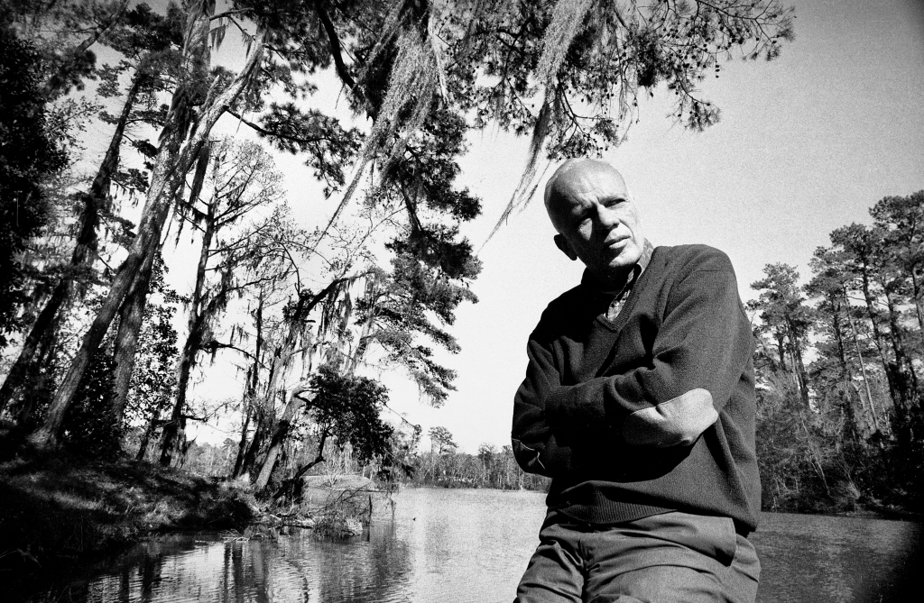 Walker Percy at the Bogue Falaya River in Covington, LA