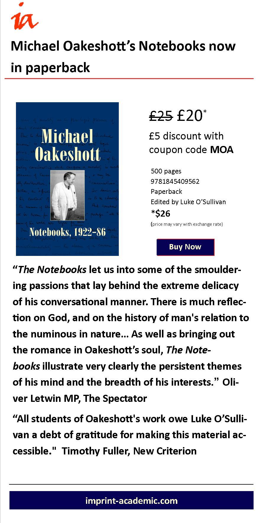 Oakeshott Notebooks eflyer